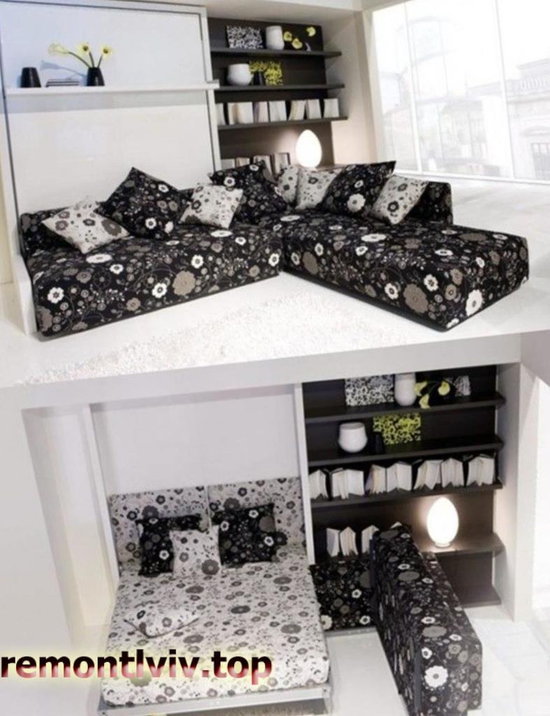 Ліжка та спальні, що заощаджують простір