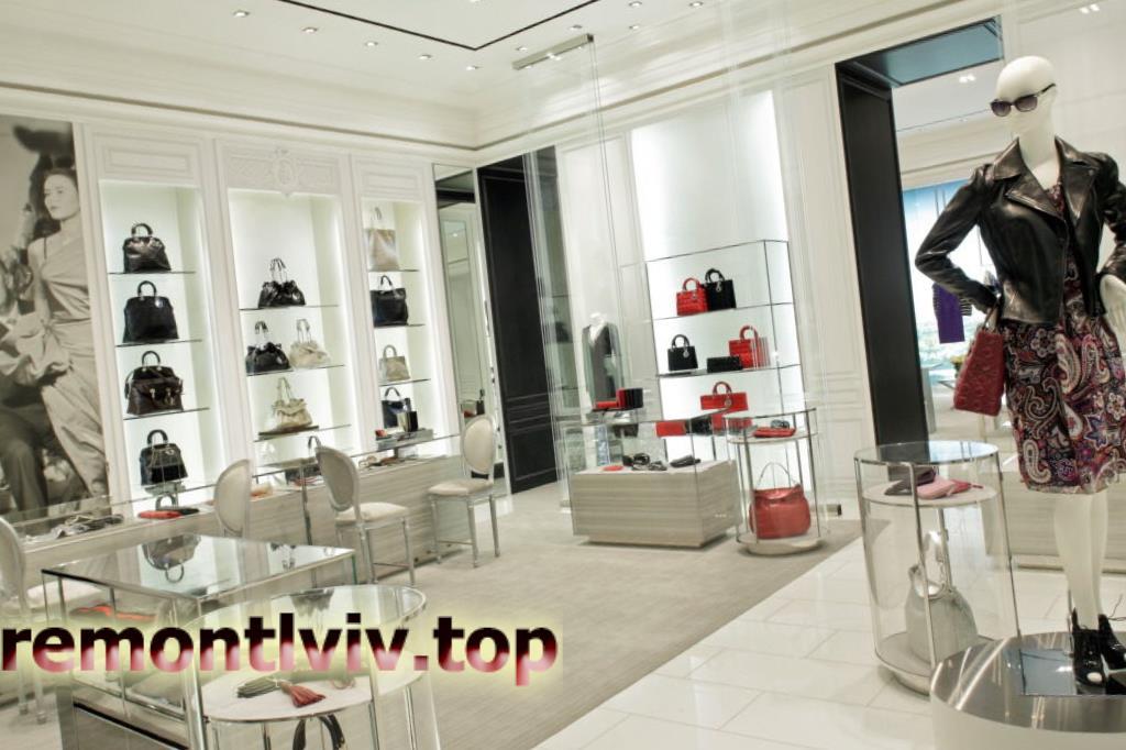 Дизайн інтер'єру магазинів і бутиків
