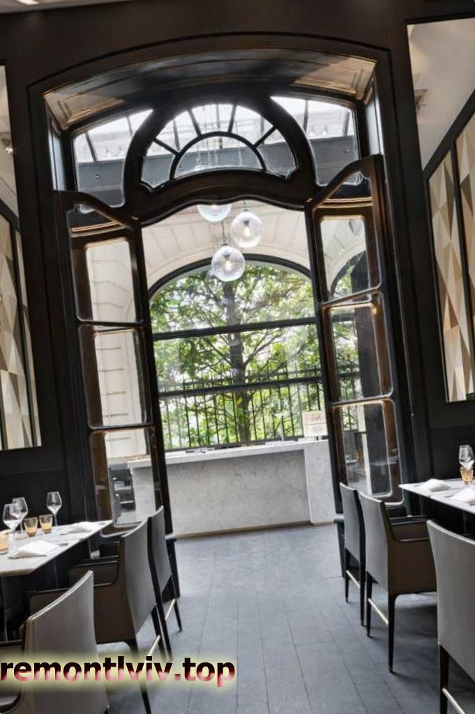 Дизайн інтер'єру ресторану в стилі модерн